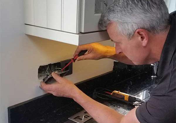 Andrew Beaden Electrician At Work